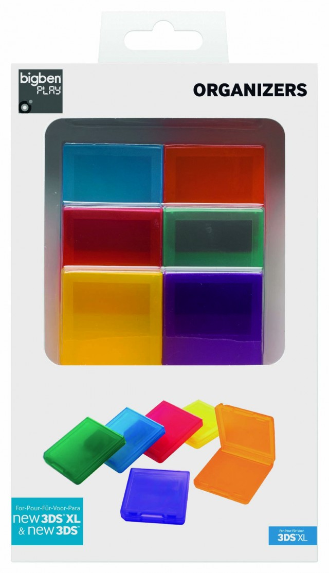 6 farbige Spiele-Leerhüllen für Nintendo DS