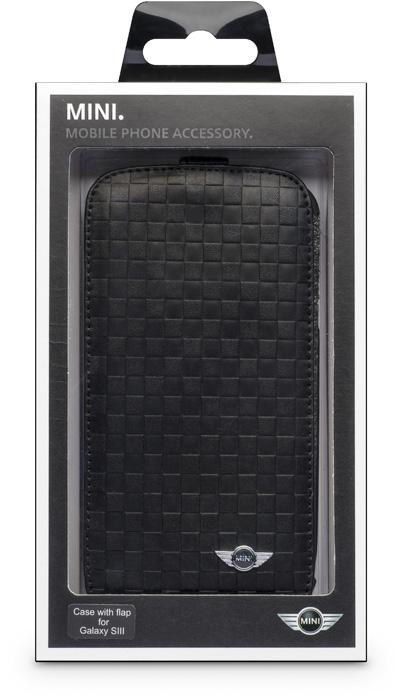 MINI – Leather flapcase [squares/black] – Packshot