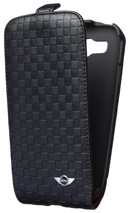 MINI – Leather flapcase [squares/black] – Bild