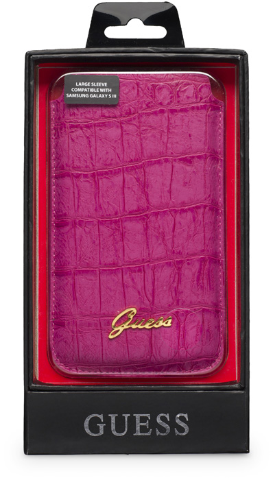 GUESS - Leather pouch [croco/pink] - Packshot