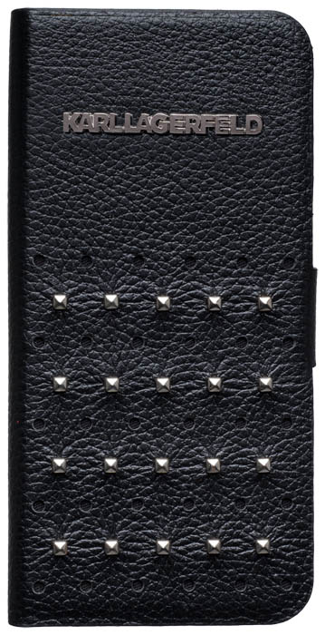 KARL LAGERFELD – Leather Folio case [black] – Bild