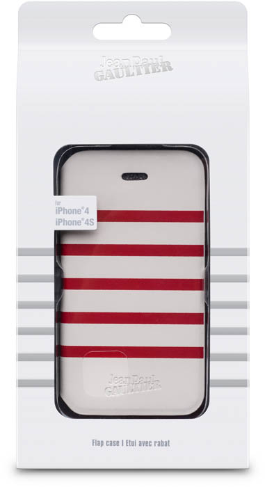 JEAN PAUL GAULTIER - Folio case Sailor [white/red] - Packshot