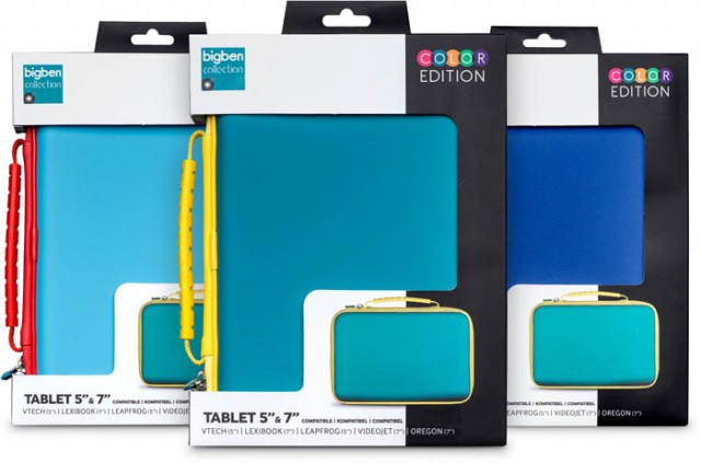 """Universal Tablet Color Cases 8"""" - [purple,blue,green] - Packshot"""