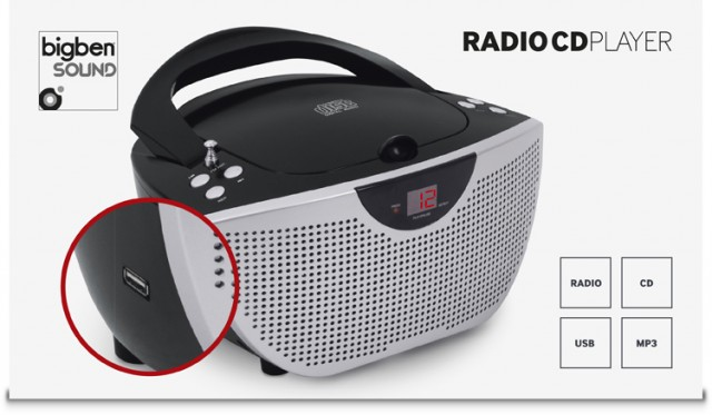 Tragbares CD/Radio CD55USB – schwarz – Packshot