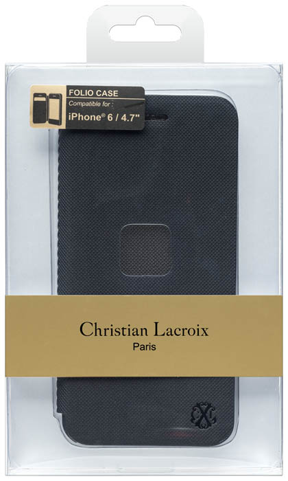 CHRISTIAN LACROIX – Folio case Suiting [black] – Packshot