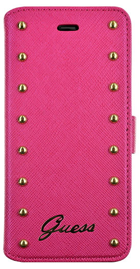 GUESS – Studded Folio case [pink] – Bild