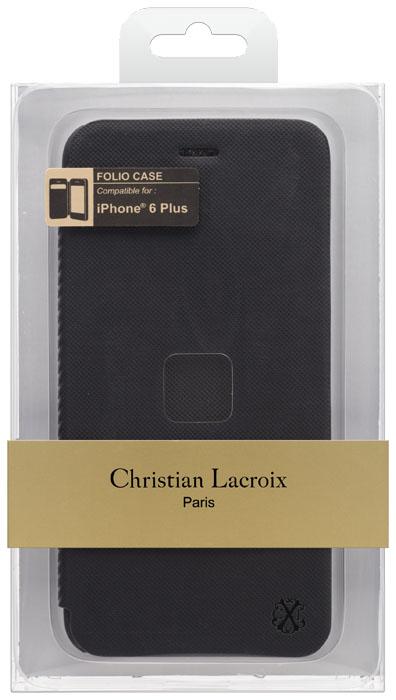 CHRISTIAN LACROIX – Folio case Suiting [black] – Packshot