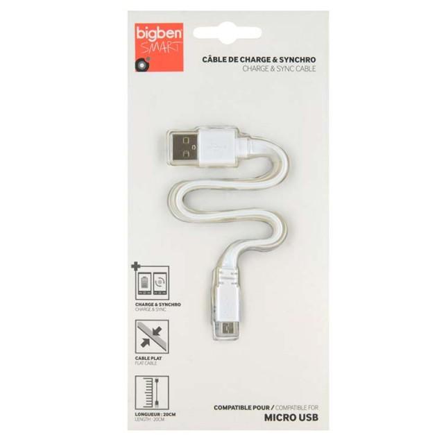 FLAT Charging & Sync Cable – Micro-USB//20cm - Packshot