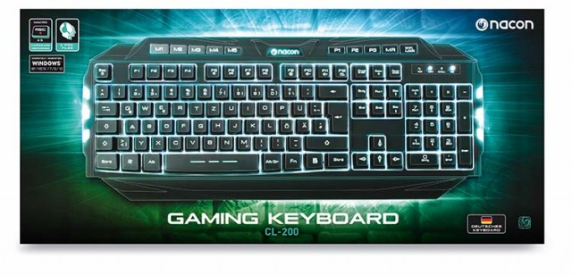 PC-Gaming Keyboard CL-200DE – Packshot