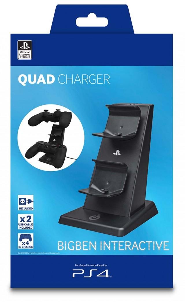 PS4 Quadcharger – offizielle Playstation-Lizenz - Packshot