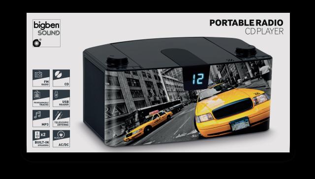 CD-Radio CD57 USB – New York Taxi - Packshot