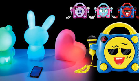 Lumin'Us - Leuchtende Bluetooth®-Lautsprecher und Karaoke-CD-Player für Kids