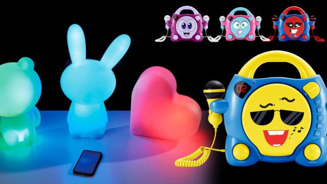 Lumin'Us – Leuchtende Bluetooth®-Lautsprecher und Karaoke-CD-Player für Kids