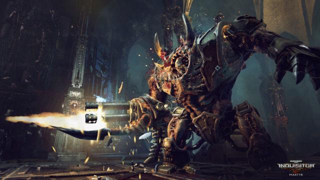 Warhammer-40000-Inquisitor_Screenshot_Hellbrute_firefight_logo