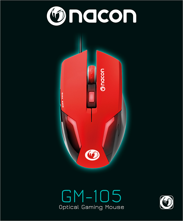 Optical Gaming Mouse GM-105 – Packshot