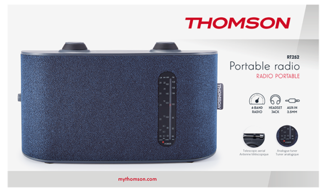 Thomson 4-Band-Radio RT252 - Packshot