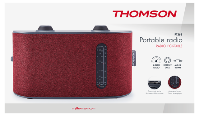 Thomson 4-Band-Radio RT253 – Packshot