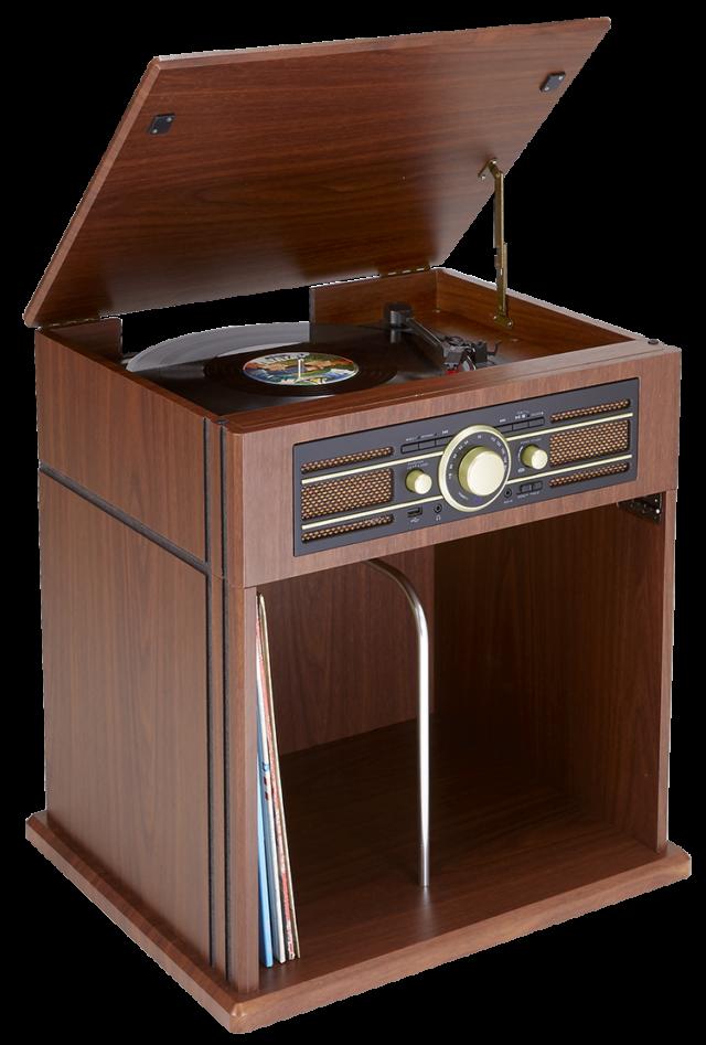 Plattenspieler TD104 mit Schallplattenfach - Packshot