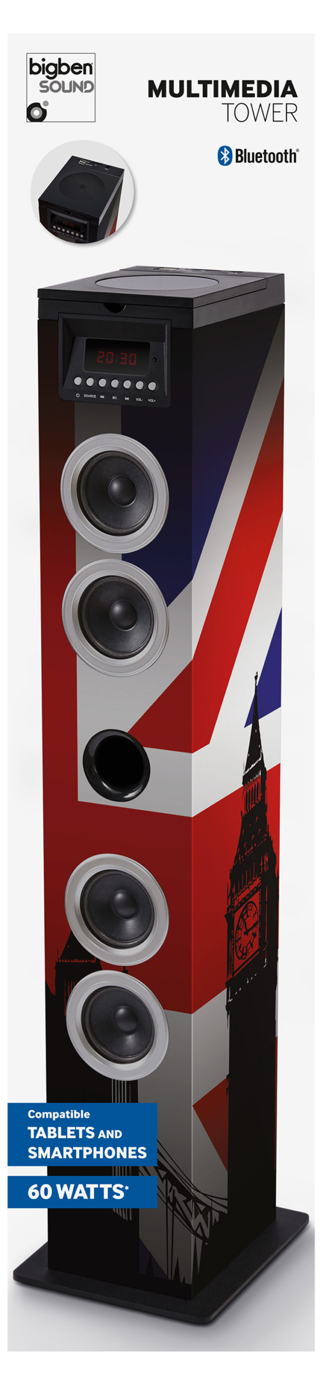 Sound Tower TW12CD – Union Jack – Packshot