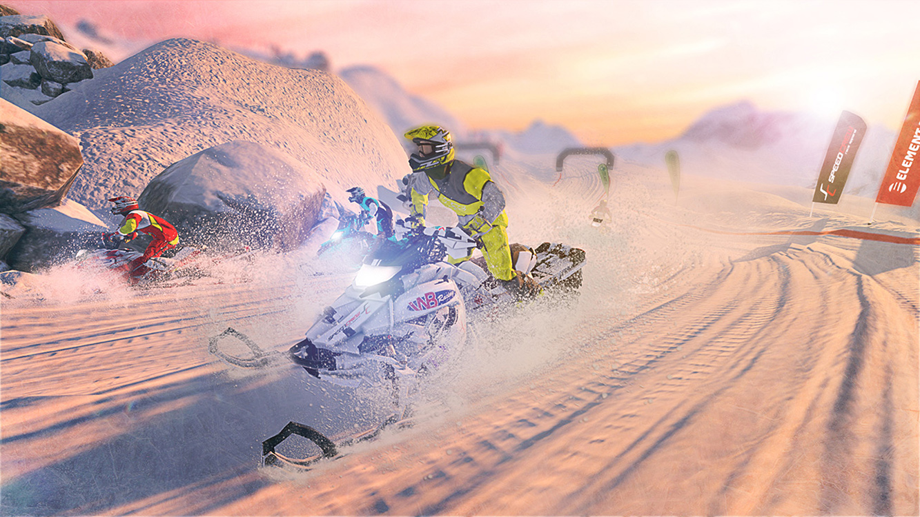 Snow Moto Racing Freedom – Screenshot
