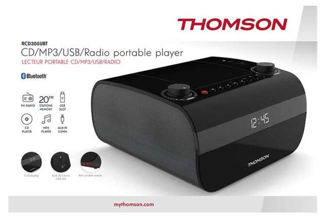 THOMSON CD-Radio RCD305UBT – Packshot