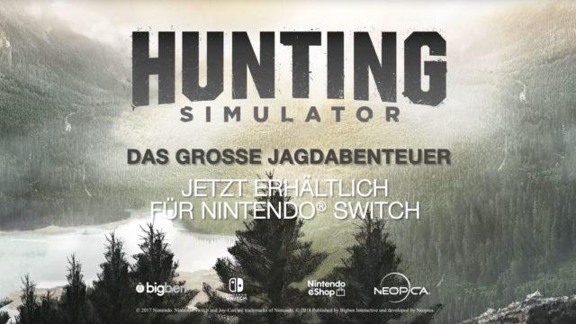 Hunting Simulator für Nintendo Switch - ab jetzt erhältlich