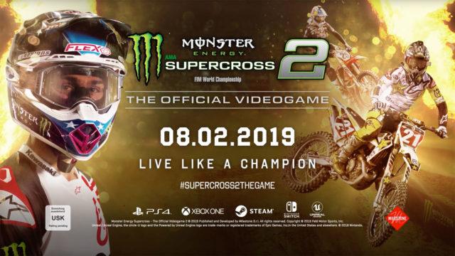 Milestone und Feld Entertainment, Inc. kündigen Monster Energy Supercross - The Official Videogame 2 an